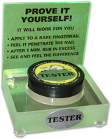 Hoof-Alive mini-tester point of sale display sign